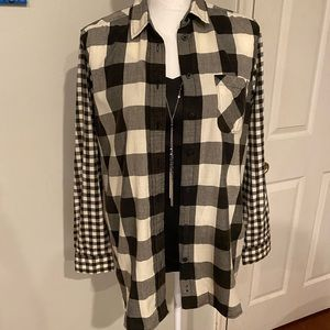 American Eagle Plaid Jegging Shirt size Small